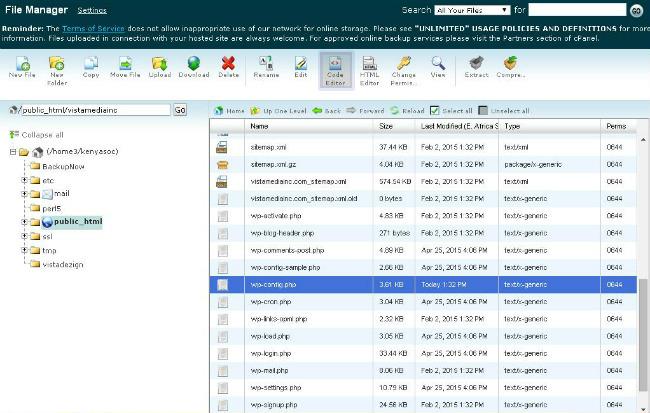 edit-wp-config-using-the-code-Editor-menu-item