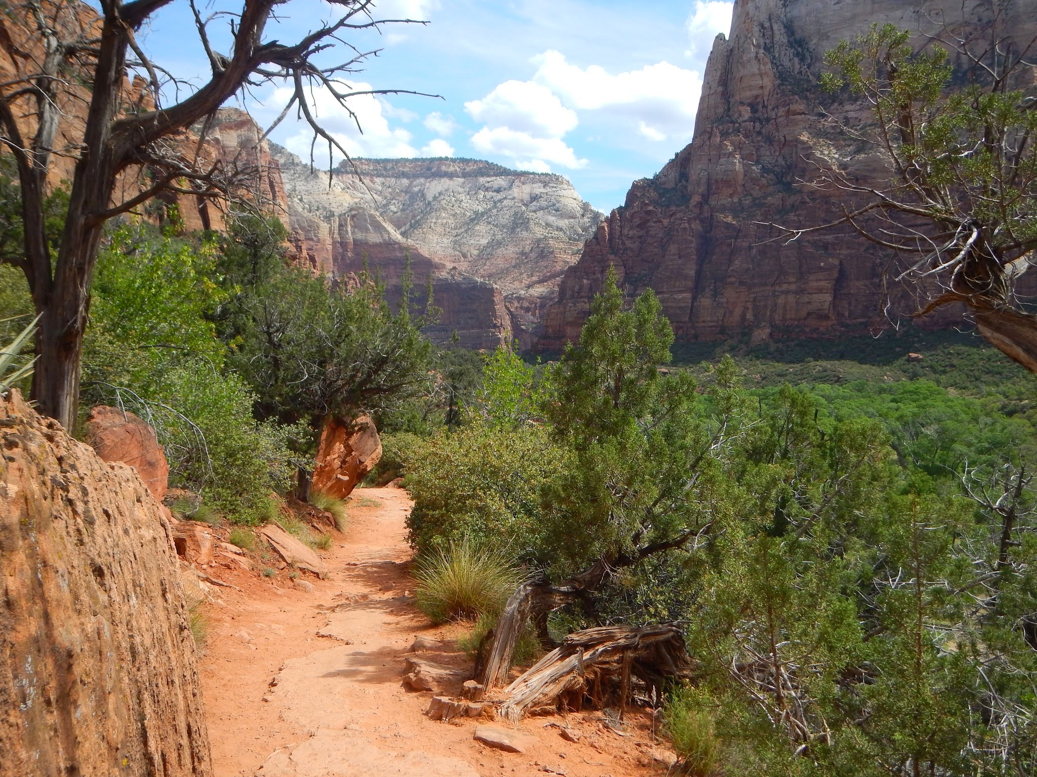 Photo: Hiking towards the Emerald Pools