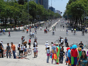 Photo: Mexico City's Reforma Avenue on Sunday is closed to auto traffic to allow circulation of bicycles.
