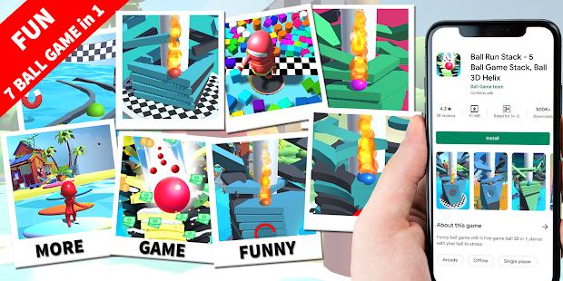 Ball Run Stack - 5 Ball Game Stack Ball 3D Helix