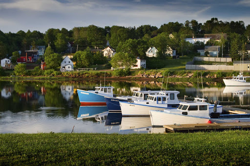 The Montague River marina in eastern Prince Edward Island, Canada.