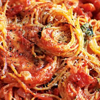 Tomato & Basil Spaghetti Bake.