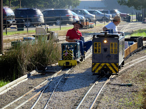 Photo: David James coming out of the car barn area and George Leventon backing to the station.      HALS Public Run Day 2015-0919 RPW