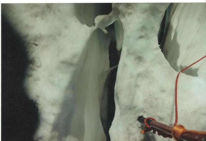 Fenda no glaciar des Bossons