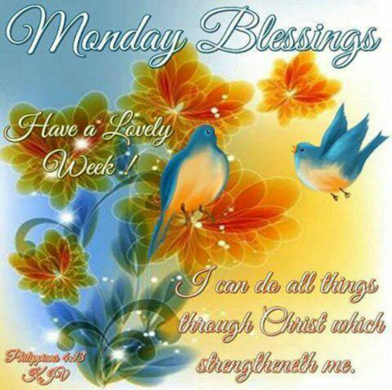 Inspirational Monday Morning Blessings Images