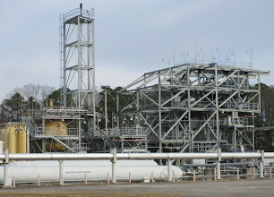Photo: Test Stand 116 - first used to support Apollo, then Shuttles... now used for Ares J2X gas generator tests series.