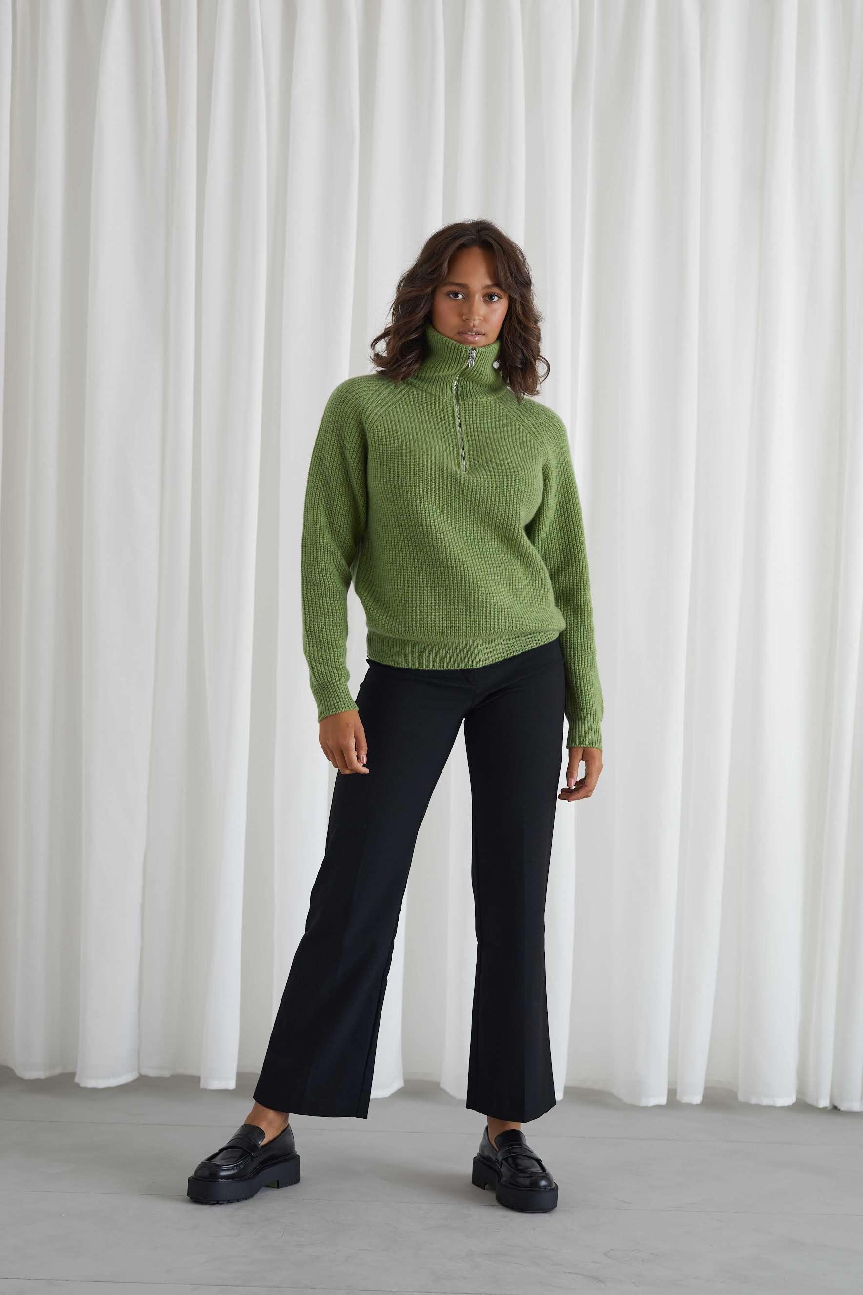 Half Zip Raglan Sweater