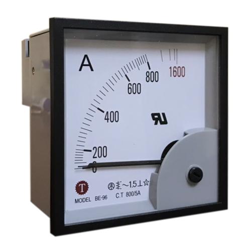Đồng hồ đo dòng điện (Ampe kế) BE-96 800/5A Taiwan Meter