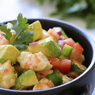 Zesty Lime Shrimp and Avocado Salad.
