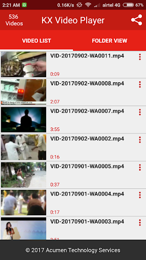 KX Video Player - Full HD Video Player 1.7.0 screenshots 2