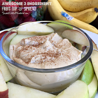 Awesome 3 Ingredient Fruit Dip and Spread Recipe