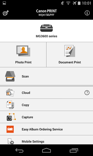 Canon PRINT Inkjet/SELPHY Android App Screenshot