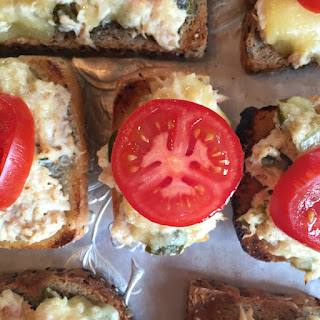 Tuna Melt with Sweet Pickles