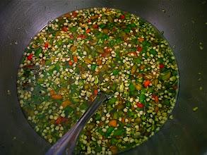 Photo: hot & sour sauce for eggplant salad