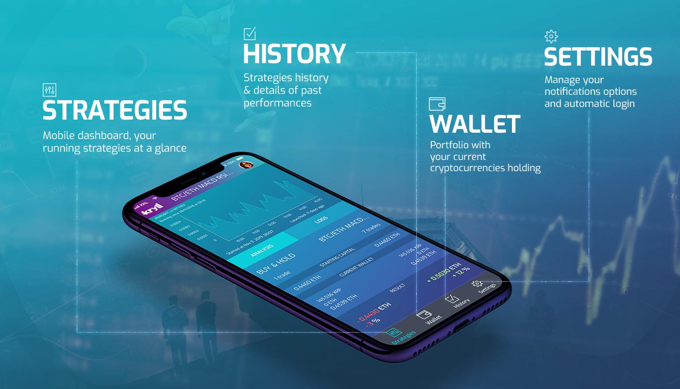 Gérez vos stratégies de trading à distance avec l'application mobile Kryll.io