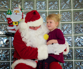 Photo: Santa was so impressed with their singing, he even stopped by for a visit!