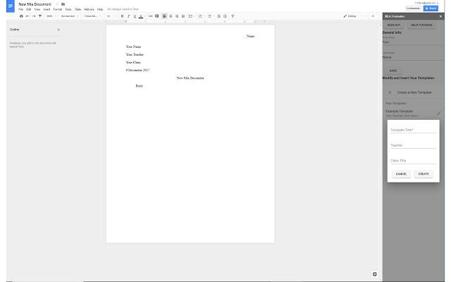 Mla Formatter Google Docs Add On