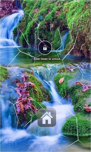 Waterfall Lock Screen