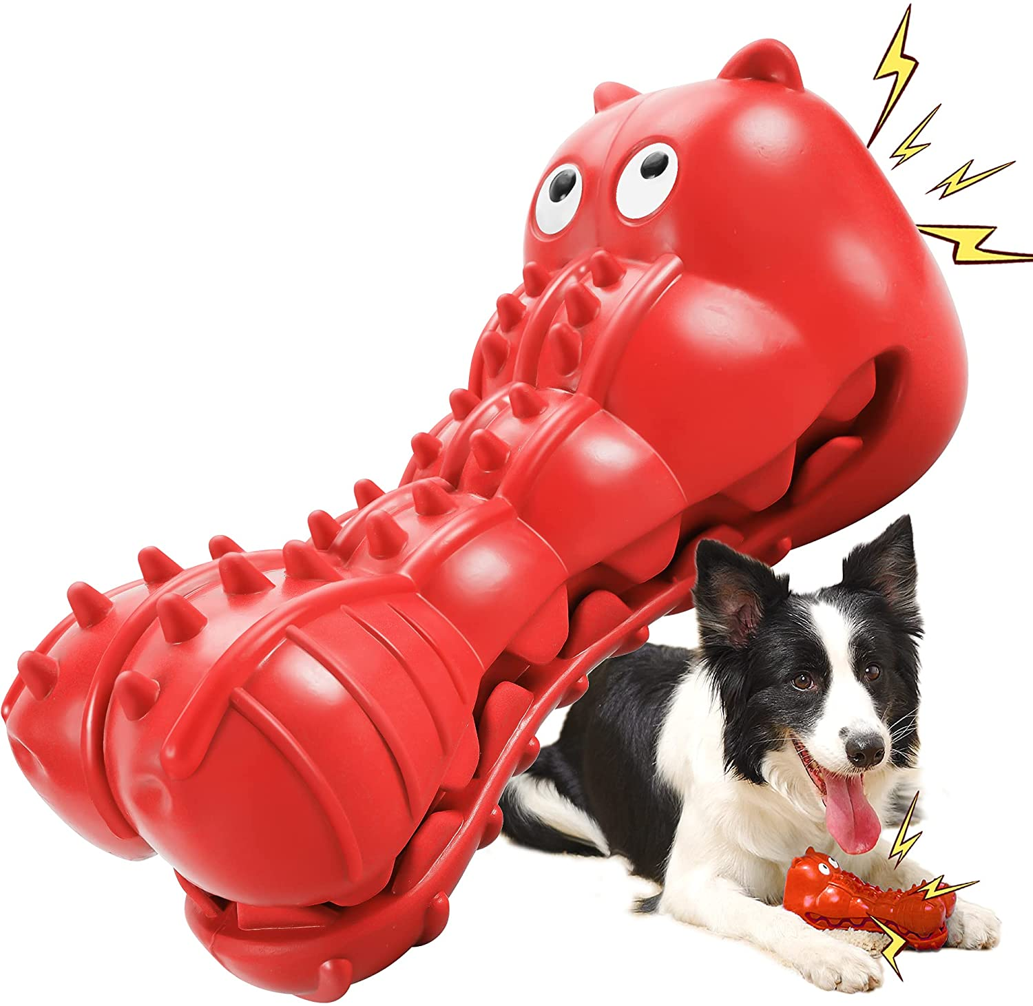 best dog toys for power chewers gator squeak toy