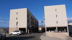 Exterior de la promoción de viviendas en Gádor.