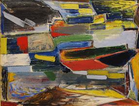 Photo: Komposition, 1948-50, olie på lærred, 102 x 129 cm.