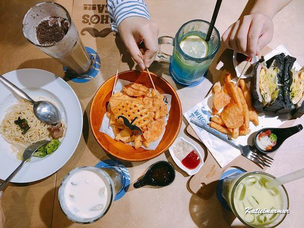 鬍子茶WHO'S TEA 台中逢甲旗艦店,平價餐點美味多元,義式料理、炸物、甜點、飲料超多樣,還有飛鏢機~不限時是好友聚餐的首選