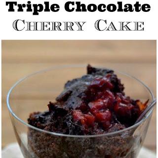 Crock Pot Triple Chocolate Cherry Cake