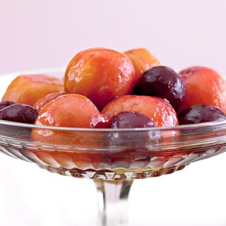Summer Fruit Poached in White Wine.