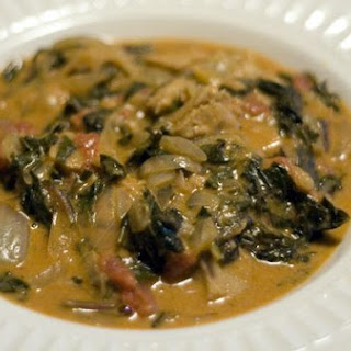Spicy West African Greens & Peanut Stew