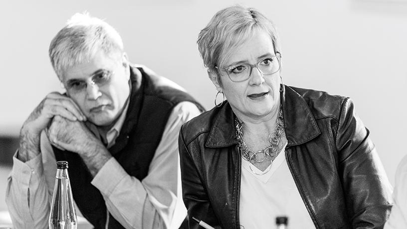 Johan du Plessis, Afrimat (left) and Celeste Rogers, MTO Group.