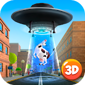 Cartoon Alien UFO Simulator 3D