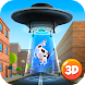 Cartoon Alien UFO Simulator 3D