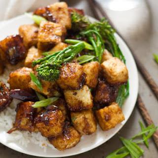 Crispy Black Pepper Tofu.