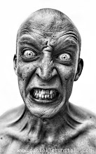 Photo: Angry Man This is one of my earliest portraits, and one of my first horror/not nice images. It was a nightmare shot to get it took 3 shoots so i think my model really was angry with me by the time i got it :)