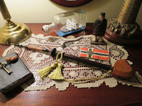 Photo: I had my great grandfather's 19th Century Lap Pipe restored by Baard Hansen in Bergen, NORWAY. He said the pipe dates to about 1880. My grandfather was born in 1885, so he must have seen the pipe for most of his years in Norway before emigrating to New York USA.