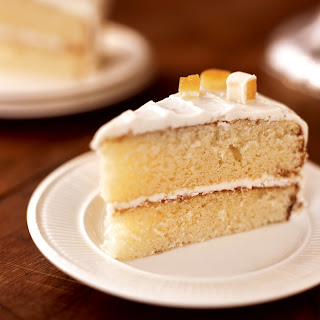 White Chocolate Cake with Orange Marmalade Filling.