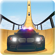 Police Car vs Mega Ramp