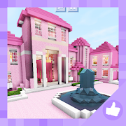 2018 Pink Princess House for Girls. Map MCPE