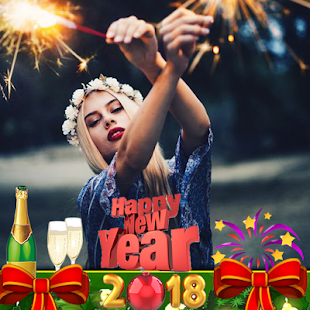 Happy New Year Photo Frames & DP 2018 - náhled