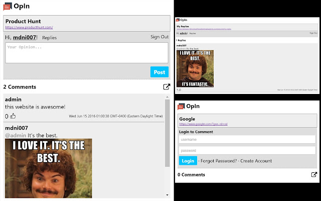 OpIn - Comment Anywhere
