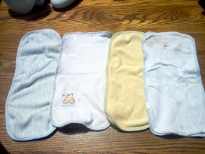 Photo: Burp Cloths $3.50ppd for all 4