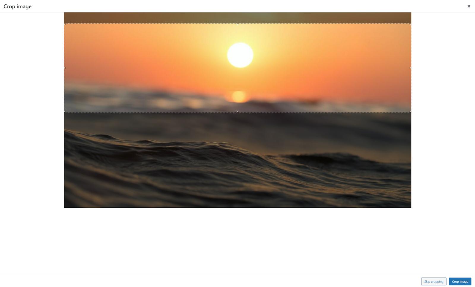 Crop WordPress background image