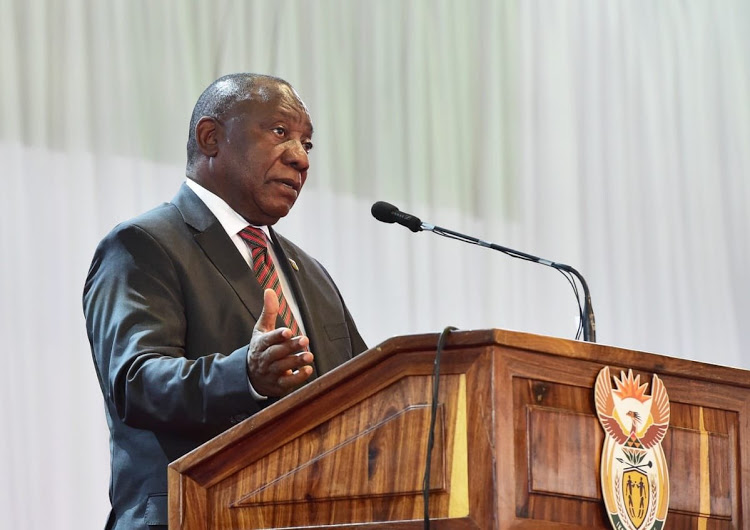 President Cyril Ramaphosa delivering the eulogy at the funeral former minister of environmental affairs, Edna Molewa on October 6 2018
