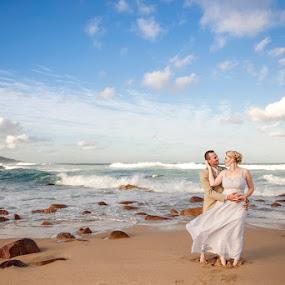Untitled by Valerie Meyer - Wedding Bride & Groom ( happy wanderers beach resort, gideon & liesl, wedding byval meyer photography )