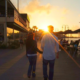 Sunset couple by Brenda Shoemake - People Couples (  )
