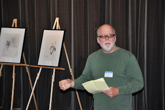 "Photo: David Lanoue spoke on what we can learn from Issa, followed by a ""Write Like Issa"" workshop."