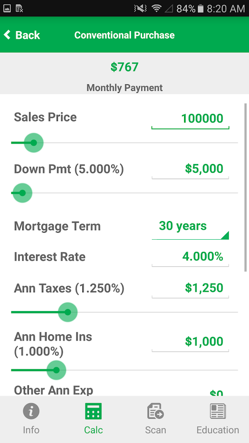 First Home Mortgage Mobile App- screenshot