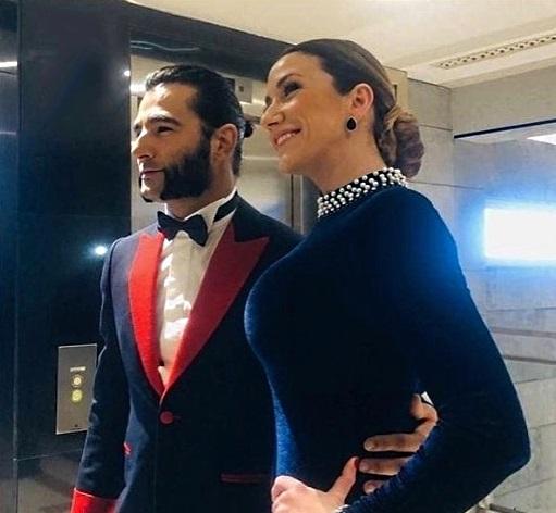 El actor Antonio Velázquez y su novia, Yohana Alonso.