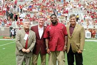 Photo: 2011 Hall of Fame recognition on the field before the Louisiana Monroe game.