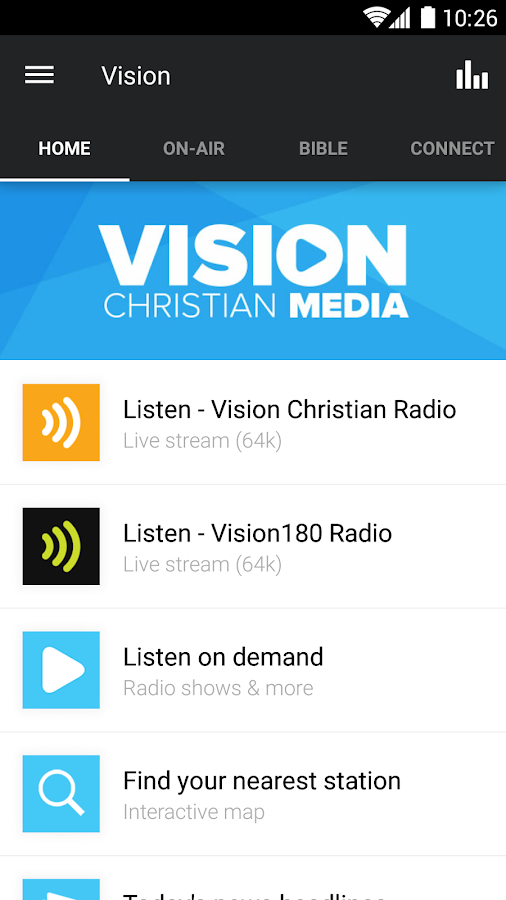 Vision Christian Media- screenshot